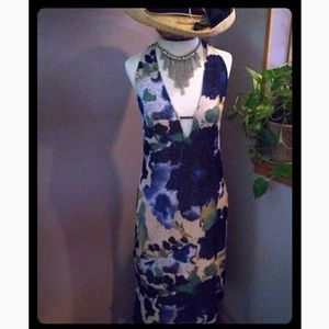 VTG CHIARUGI Floral Print Halter Dress